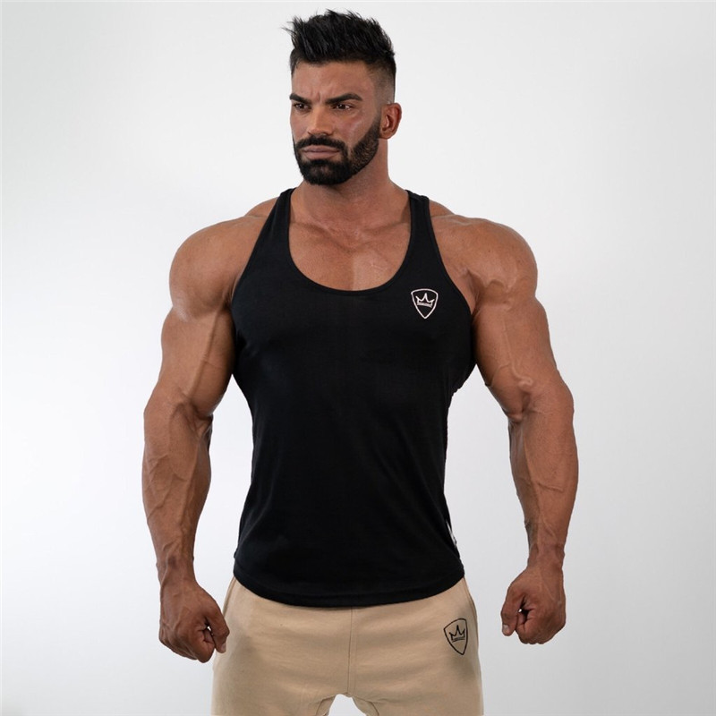 EntrüCkung Hohe Qualität Neue Männer Bodybuilding Tank Top Fitness-studios Fitness Baumwolle Ärmelloses Shirt Crossfit Kleidung Männlichen Sommer Singlet Unterhemd