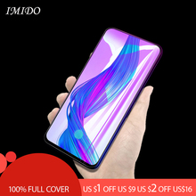 IMIDO 2.5D Full Coverage Anti Blue Tempered Glass For OPPO Realme X Anti-Blue Screen Protector Film for Lite
