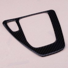 DWCX Car Carbon Fiber Gear Shift Panel Surround Frame Cover Trim Sticker Fit for BMW E90 E91 E92 E93 AT Automatic M цены