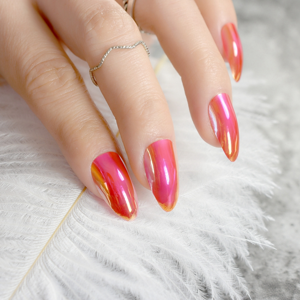 Awesome Press On Red Nails Crest - Nail Art Ideas - morihati.com