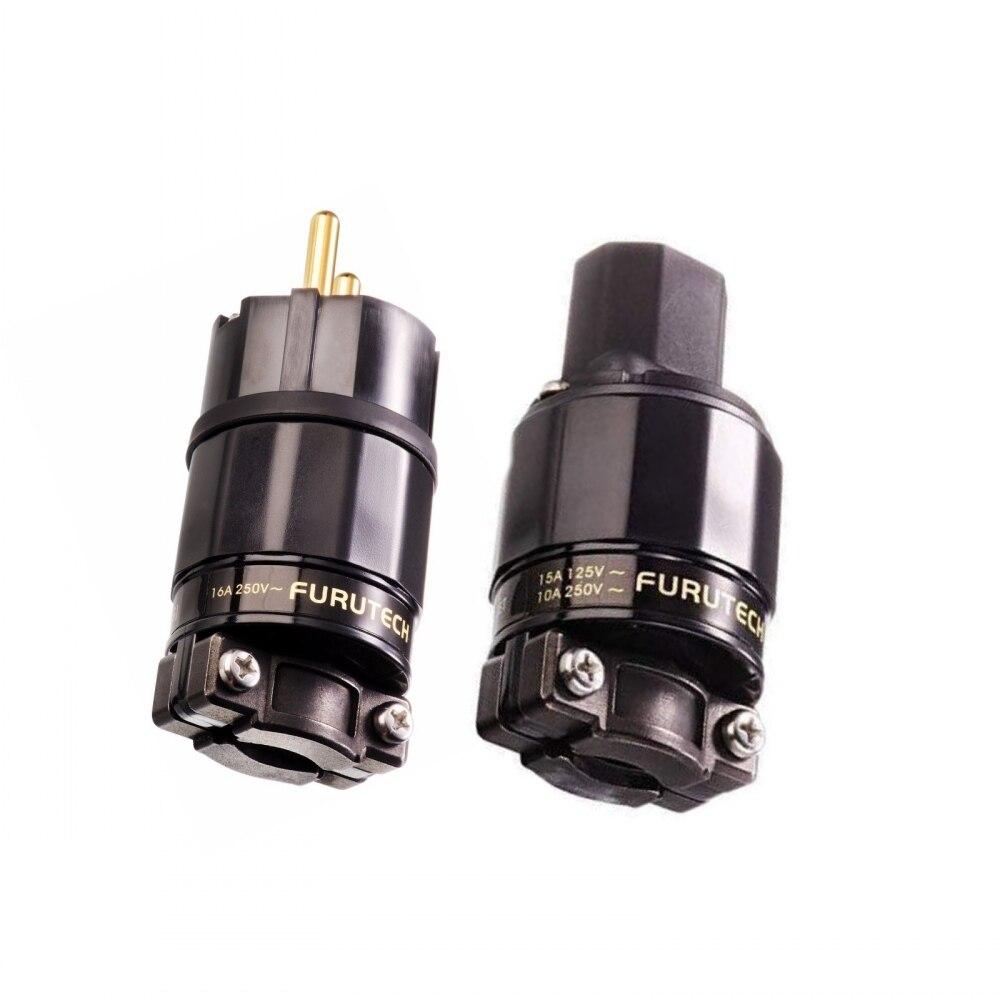 FURUTECH FI-E11 G   FI-11-N1 R  Power plug Rhodium end Schuko-Stecker IEC 15A 125V 16A  250V MATIHUR