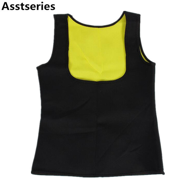 b75f0839cb Asstseries 2017 women Neoprene breast care abdomen fat burning fitness body  girly stretch yuga exercise vest Slimming Shaper Top