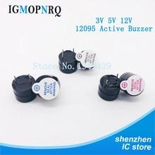 50 adet 12095 manyetik uzun sürekli bip sesi 12*9.5mm 3v 5v 12v aktif Buzzer