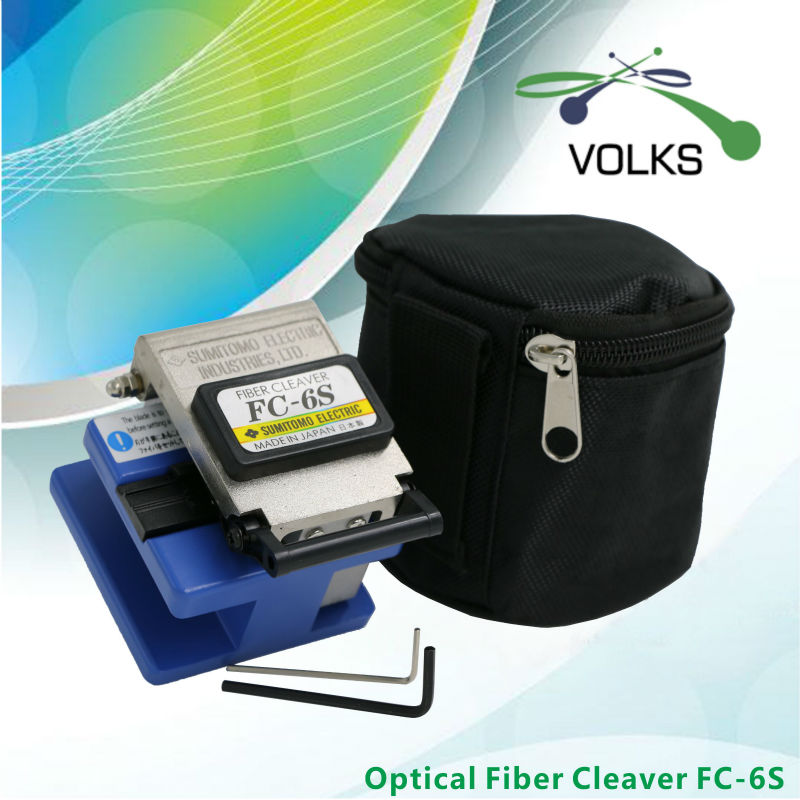 VOLKSTEC FC 6S Fiber Cleaver High Precision Fiber Cleaver with Bag