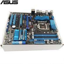 Оригинальный использоваться для настольных ПК для ASUS P8P67 поддержка разъем LGA 1155 I7 I5 I3 4 * DDR3 Поддержка 32 г 4 * SATA3 4 * SATA2 USB2.0 ATX