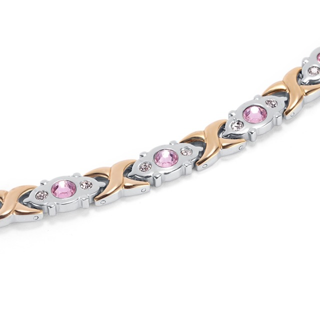 Stainless Steel Health Energy Magnetic Crystal Gem Bracelet