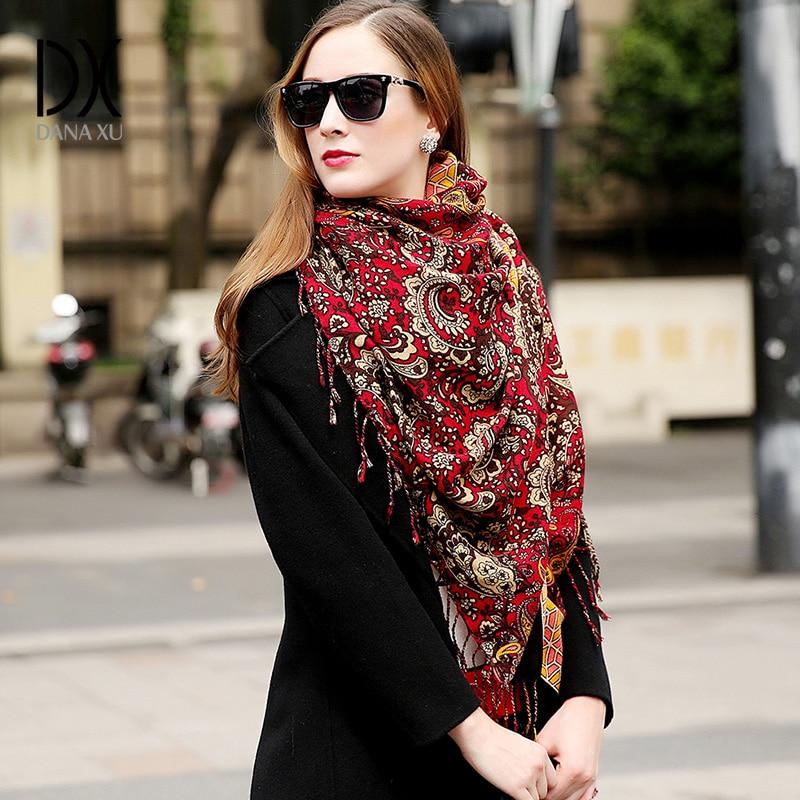 Laine Femmes Foulards Étoles Élégant Écharpe Chaude Châle Bandana Écharpe  De Marque De Luxe Musulman Hijab Plage Couverture Visage Bouclier Foulard  dans ... bc8debecdb12