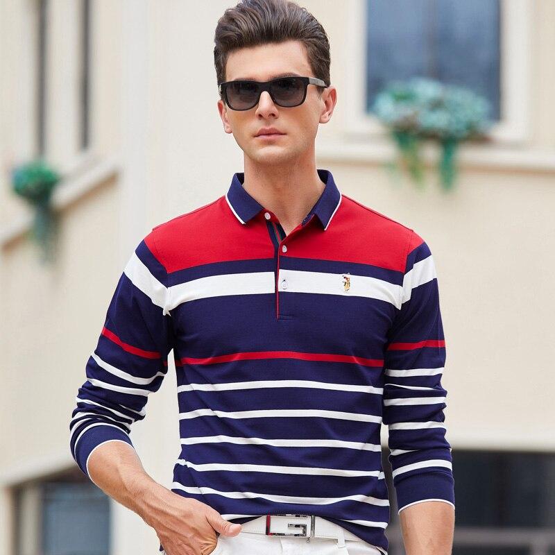 Dschungel Zone 2019 Neue Männer Polo Shirt Herren Langarm Kragen Polo-shirt Einfarbig Polos Hohe Qualität Männer Der Marke 8836 Oberteile Und T-shirts