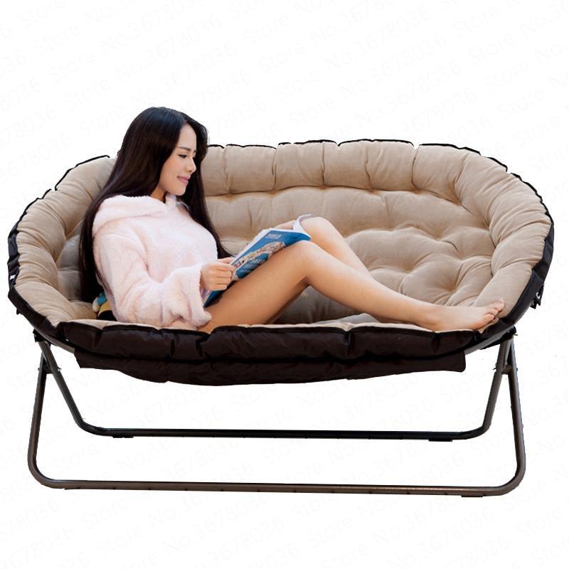 Lazy Sofa European Double Fabric Sofa Single Sofa Folding Sofa Chair Home Leisure Chair Special Offer