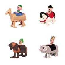 4 шт. забавная заводная цепь, игрушки в западном стиле, прыжки, верховая езда, лошадь, верблюд, животное, заводная игрушка, принц, ведьма, игрушка для подарка