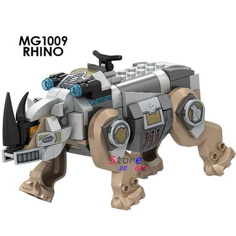 Tek süper kahramanlar Rhino Steppenwolf Woderwoman savaş Ares Villians Thanos modeli yapı blok oyuncaklar çocuklar için