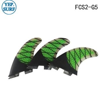 Aletas Surf FCS II G5, fcsii aleta de fibra de carbono panal de fibra de carbono FCS 2 SUP Board de buena calidad FCS2 aletas