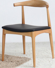 Contracted cafe tables and chairs. Horn chair. Solid wood chair(China)