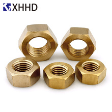 Brass Hex Nut Metric Hexagon Threaded Copper Hexagonal Nuts  M2 M3 M4 M5 M6 M8 M10 M12 M14 M16