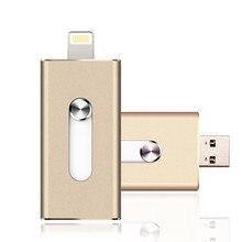 i-Flash Drive 8gb 32gb 64gb Mini Usb Metal Pen Drive /Otg Usb Flash Drive For iPhone 5/5s/5c/6/6 Plus/7/ipad Pendrive
