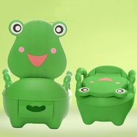 Lovely Green Frog Baby Kids Potty Seat Toilet Training Seating Potties 3 Colors