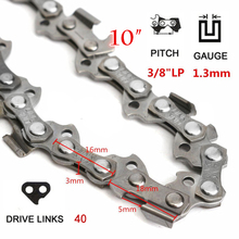 10-20 inch 40-72 Drive Link 0.325 38 Pitch Chain for Chainsaws Mill Replace Kit
