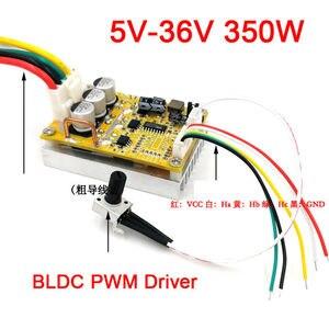6-72V 450W BLDC 3-phase DC Brushless Motor Controller PWM Hall motor Control Driver Board 12V 24V 48V 72V Forward Reverse(China)