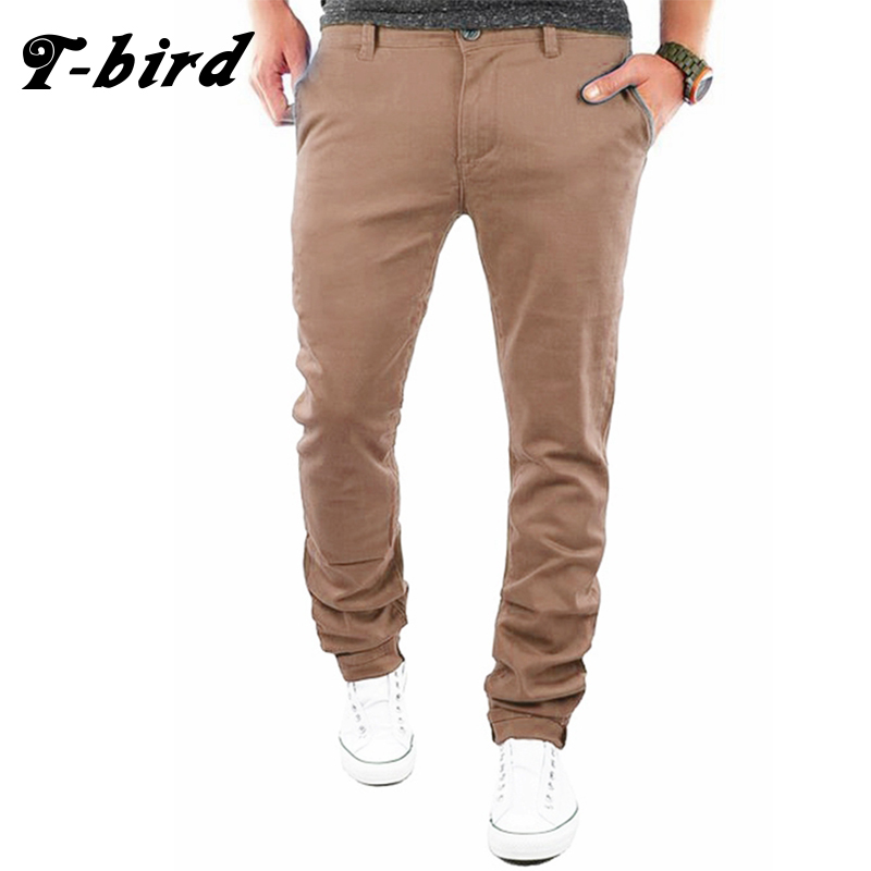 T-Bird New Arrived 2017 Brand Casual Joggers Business Compression Pants Men Cotton Trousers Calabasas Cargo Pants Mens Leggings
