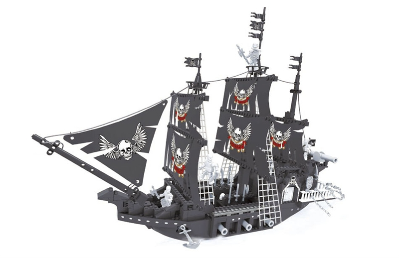 Ausini building block set compatible with lego pirates series 162 3D Construction Brick Educational Hobbies Toys for Kids квикдекор картина на холсте снежная королева 40 см х 30 см