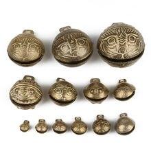 Lot de 1/2/3/5/7/8/15 pièces, matériau en laiton, breloque de clochette porte-bonheur chinoise pour la fabrication de Bracelet, de cheville et de pendentif pour Animal de compagnie
