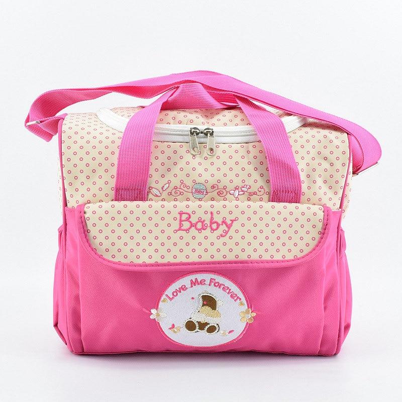 2018 New Zipper Pocket Shoulder Diaper Bag For Mother Cheap Maternity Bag Multifunctional Luiertas Baby Bag bolsa infantil