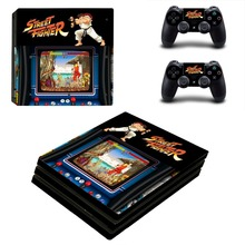 Street Fighter PS4 Pro Skin Sticker For PlayStation 4 Console and 2 Controllers PS4 Pro Skin Stickers Decal Vinyl