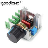 Regulador de tensão 2000 w estabilizador de tensão scr fonte de alimentação controlador de velocidade ajustável ac 220 v led dimmer 220 v