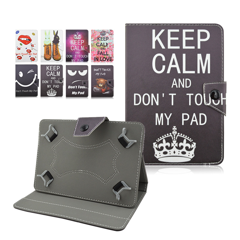 Fashion keep calm printed pu Leather case cover For DNS AirTab P110w 10.1 inch case tablet 10 universal+Center Film+pen KF492A ...
