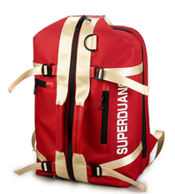 Hip-hop Style Street Trend Backpack Personality Teenage Boy Student Letter Unisex Multi-function High Capacity Bag D176