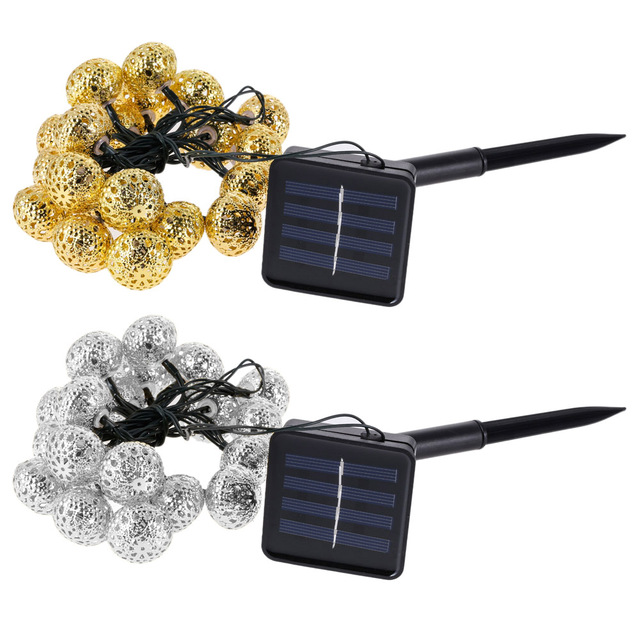 3.3m Solar Power 20 LED Ball String Light Garden Tree Wedding Decoration String Fairy Ball Party Light
