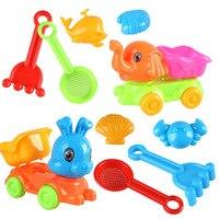 SLPF5 Piece Set Summer Parent-child Interactive Beach Toys Sand Model Kids Play House Outdoor Game Rabbit Rabbit Car Toy New N11