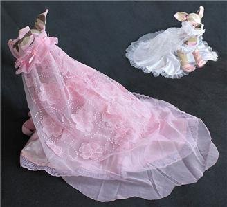 Pet's world Luxury puppy Dresses Pet Clothes Elegant dog wedding Gown with veil Full long party dress