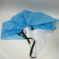 Tăng cường chạy khả năng kháng ô đào tạo bóng đá tốc độ chạy parachute chute lính dù chiếc ô màu xanh phong trào