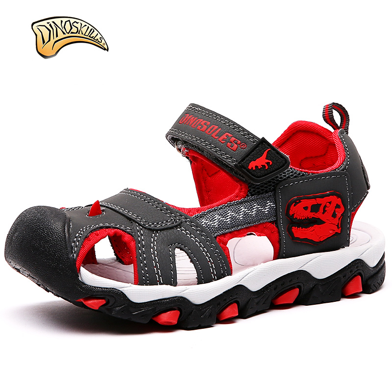 Dinoskulls Boy Dinosaur Summer Sandals Kids Children's Teenage Sandals Kids Summer Shoes Sandalen Kinder Sandales Garcon 31-36