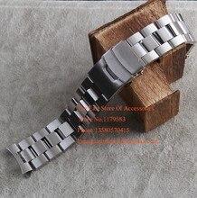 Promoción correa de Metal de acero inoxidable banda Watche Curved end 22 MM de plata cupieron hombres reloj marca 527 de seguridad de implementación de cierre nueva