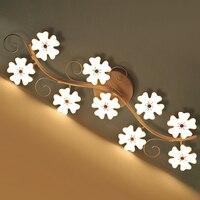Светодиодный потолок гостиной после современный минималистский Искусство личность отношение форме plum спальня лампы
