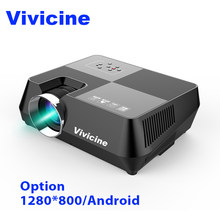 Vivicine 720P HD Projector, Optional Android WIFI Bluetooth HDMI USB PC Mini LED Proyector Handheld Movie Beamer for Video games(China)