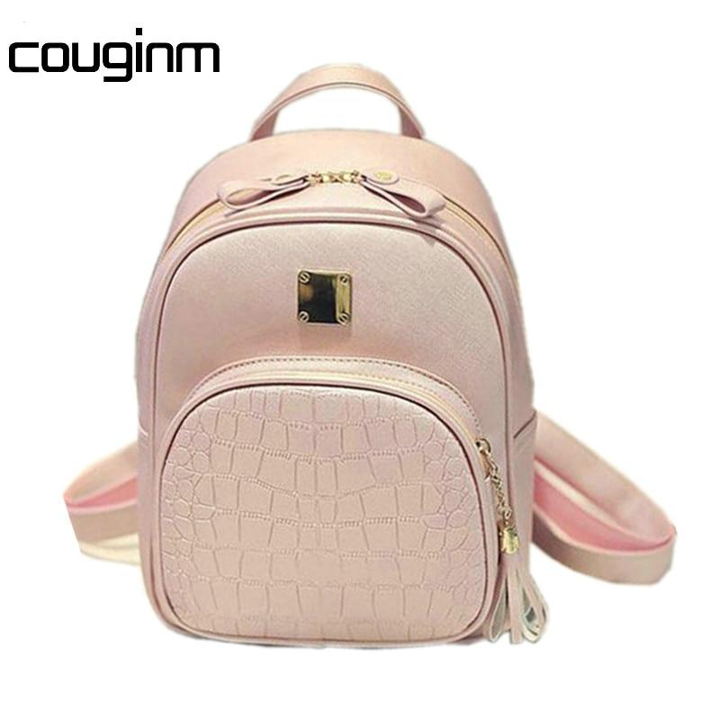 Hot Fashion Women Backpacks Women S PU Leather Backpacks Small Girl School Bag High Quality Ladies