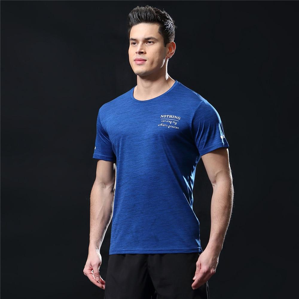 GANYANR Running T Shirt Men Basketball Tennis Sportswear Tee Sport Fitness Gym Jogging Tops Slim Fit quick dry Exercise Training 25