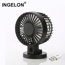 Ingelon USB Fan Mini portable Table Desk Personal FAN Black Double Vane Mini gadgets Dropshipping for