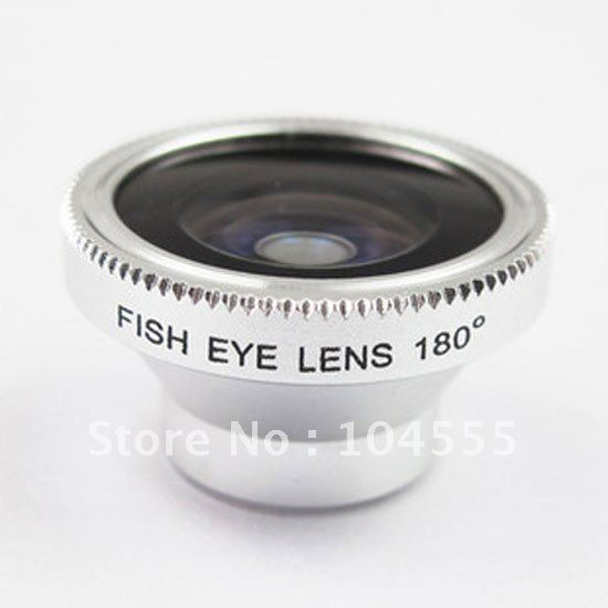 New 180 Angle Detachable Fish Eye Lens for iPhone Mobile Digital Camera drop shipping