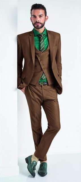 812cb28b2eb Online Shop Latest Coat Pant Designs Brown Men Suit Slim Fit Skinny 3 Piece  Stylish Tuxedo Custom Groom Casual Prom Suits Terno Masculino B4