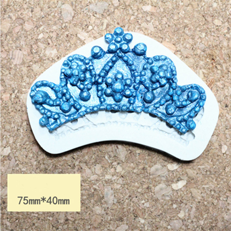 Silicone Mold fondant mould Crown sugar cake 2D beautiful Princess Crown candy mold font b food
