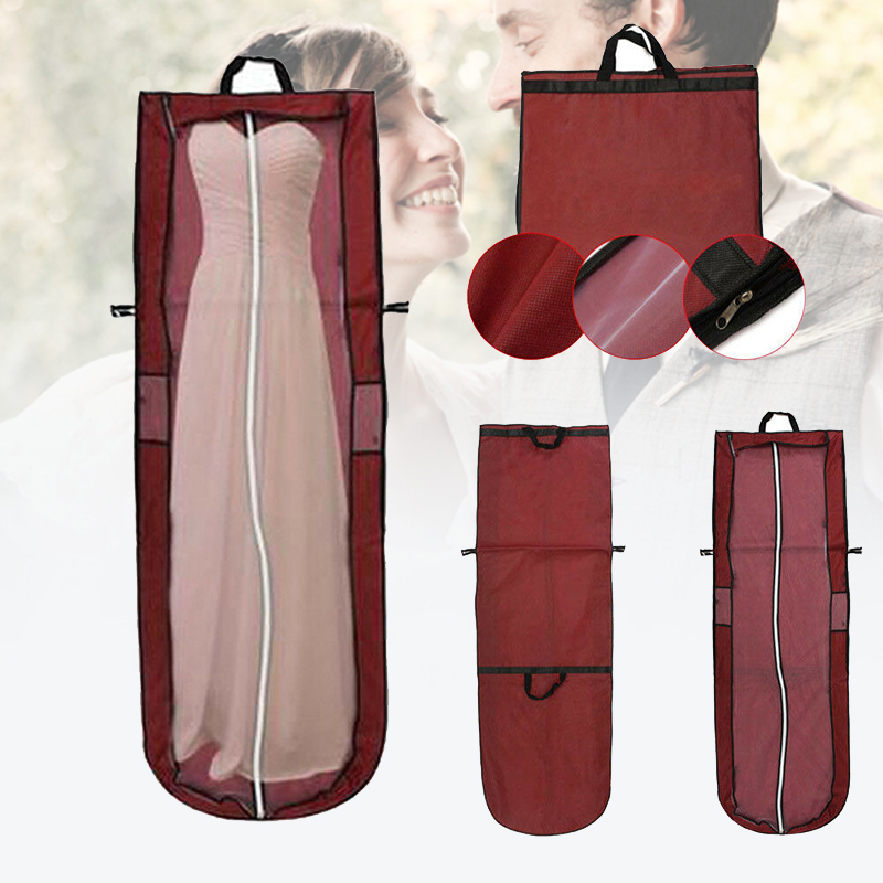 New Long Dress Foldable Storage Bag Cover Home Dress Clothes Garment Suit Case For Bridal Wedding Dress Dustproof Bag Protector