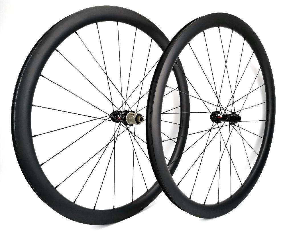 700C full carbon fiber wheels 38mm depth 23mm width disc brake bike Clincher/Tubular Road wheelset UD matte finish