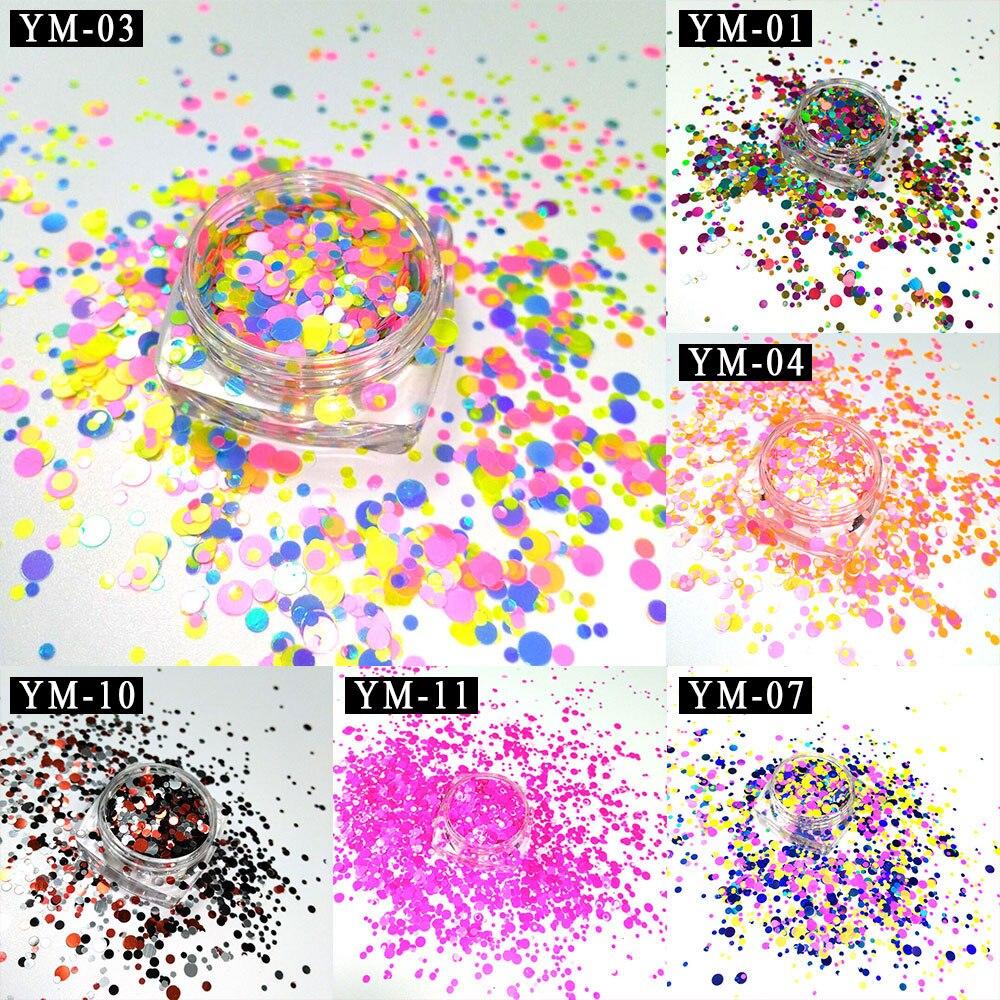 Ym1-c So Effektiv Wie Eine Fee Nagelglitzer Suche Nach FlüGen 6 Boxs Glänzende Runde Ultradünne Nail Art Glitter Pailletten Blätter Tipps Ultradünne Uv Gel Runde Maniküre Dekoration Schönheit & Gesundheit