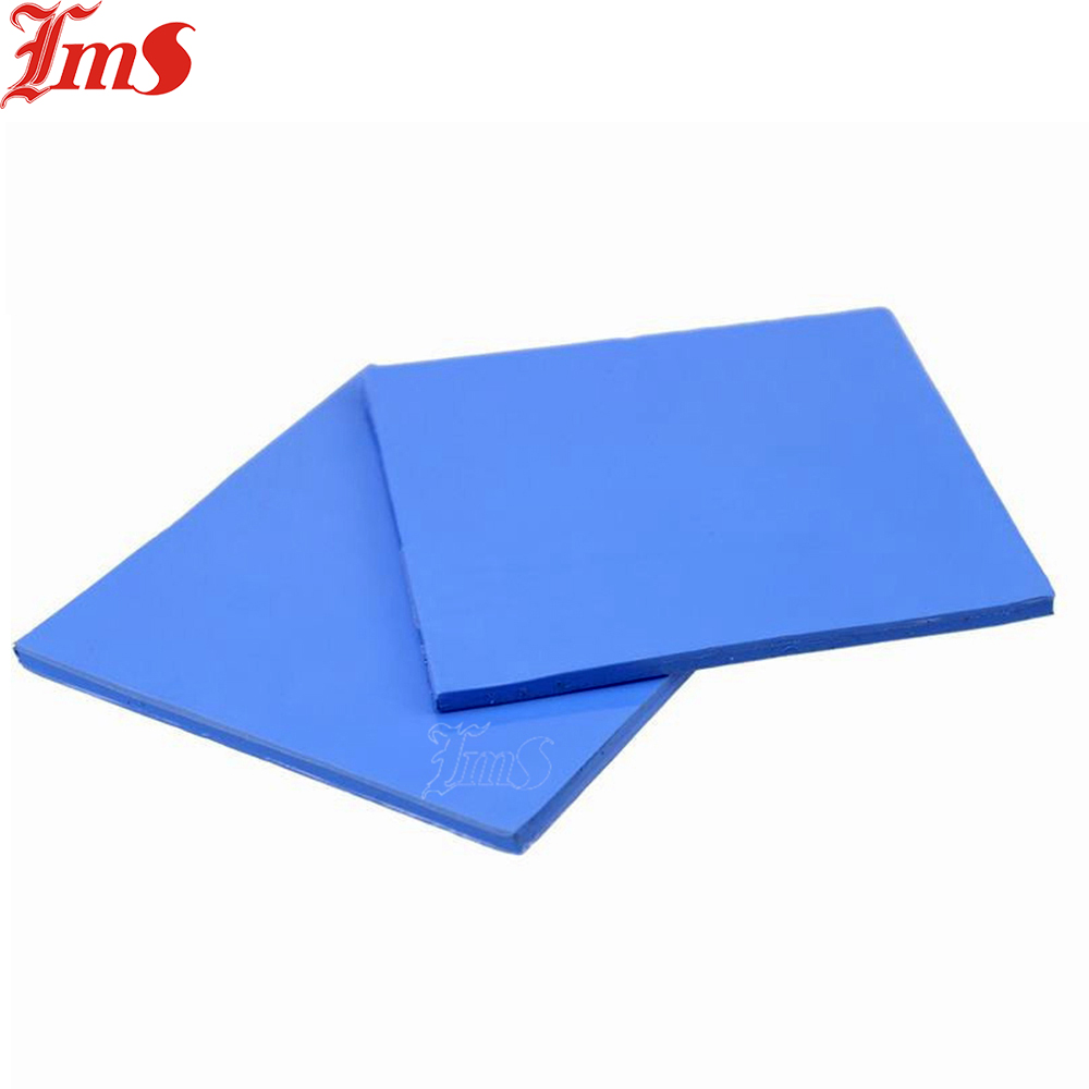 2 Pcs 100x100x1 5mm Blue Soft thermal Rubber Conductive Silicone Thermal Pad Insulation sheet For Notebook