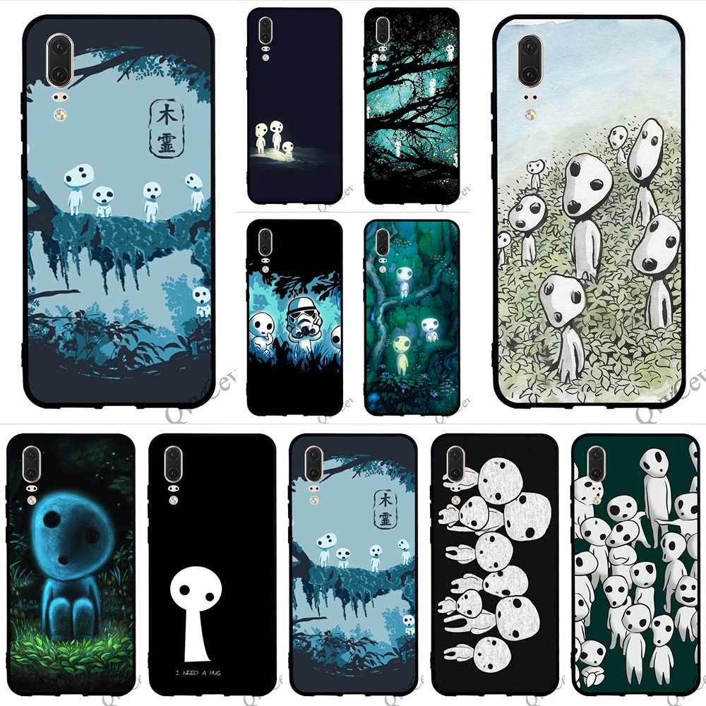 Protective Kodama Spirit Phone Cover for Huawei P10 Lite Case P8 P20 Pro P9 Mini P Smart Mate 10 20 Backshell in Fitted Cases from Cellphones Telecommunications
