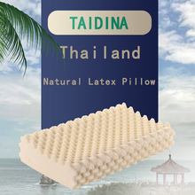 TAIDINA Thailand Natural Latex Pillow Protect Cervical Vertebra Massage Rubber Memory Core